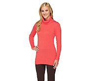 Liz Claiborne New York Cotton Cashmere Turtleneck Sweater - A256460