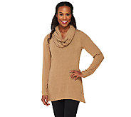 Legacy Sweater Jersey Long Sleeve Tunic with Removable Scarf - A259360