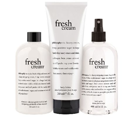 philosophy fresh cream layering body trio