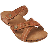 Earth Origins Leather Sandals w/ Double Strap - Tamra - A265460
