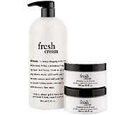 philosophy super-size fresh cream shower gel with souffle duo - A265560