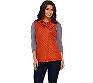 Dennis Basso Water Resistant Quilted Moto Vest - A268060