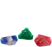SoapRockettes S/3 Holiday Gemstone Cleansing Soap Set - A268960