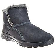 Skechers GOwalk Suede Faux Fur Boots w/ Memory FormFit-Imprint - A269560