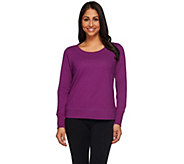 H by Halston Cropped French Terry Scoop Neck Sweatshirt - A270260