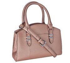 Tignanello Saffiano Leather Triple Compartment Domed Satchel