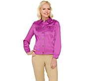 Joan Rivers Long Sleeve Cotton Sateen Jacket - A273760