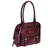 As Is Tignanello Distressed Vintage Leather RFID Satchel - A275160