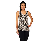 As Is George Simonton Printed Knit Sleeveless Top - A277060