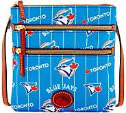 Dooney & Bourke MLB Nylon Blue Jays Triple Zip Crossbody - A281560