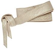 As Is G.I.L.I. Leather Reversible Obi Wrap Belt - A282460