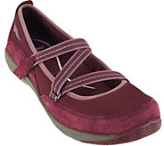 As Is Dansko Suede Stain Resistant Slip-ons with Straps - Hazel - A284060