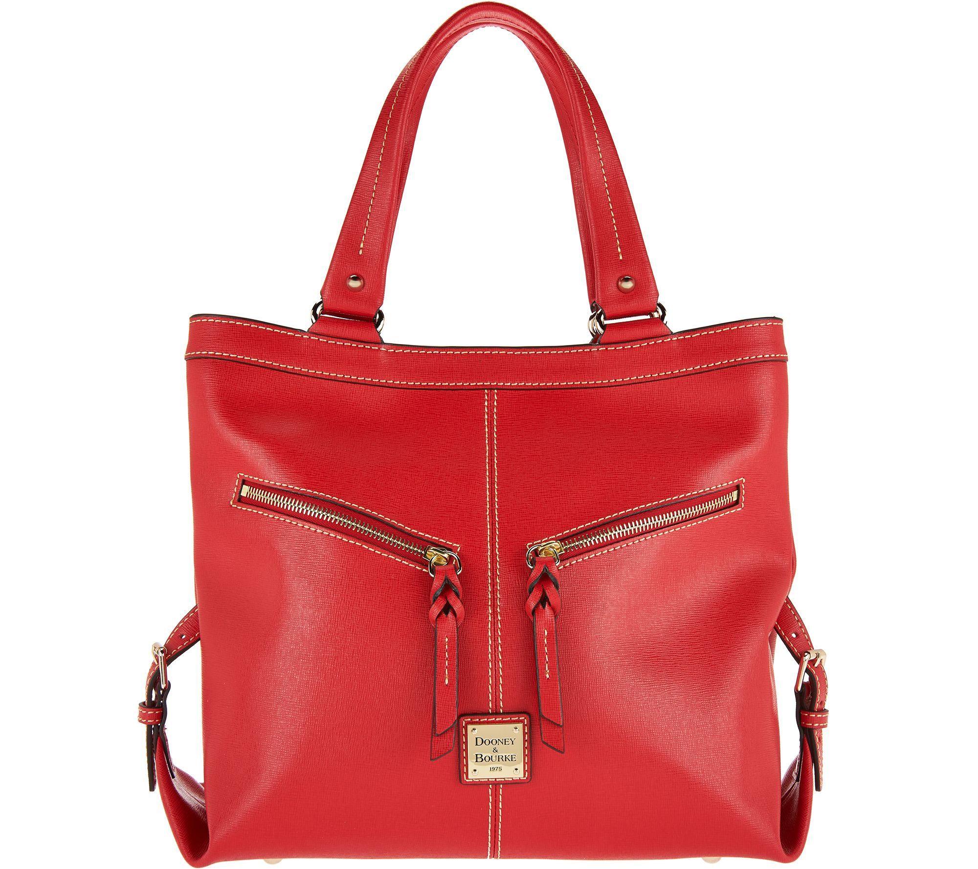 Dooney & Bourke Saffiano Leather Shoulder Bag- Sara - Page 1 — QVC.com