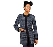 As Is Luxe Rachel Zoe Tweed Jacket with Contrast Trim - A291760