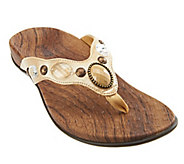 As Is Vionic w/ Orthaheel Carla Orthotic Thong Sandals w/ Jewel Detail - A295860