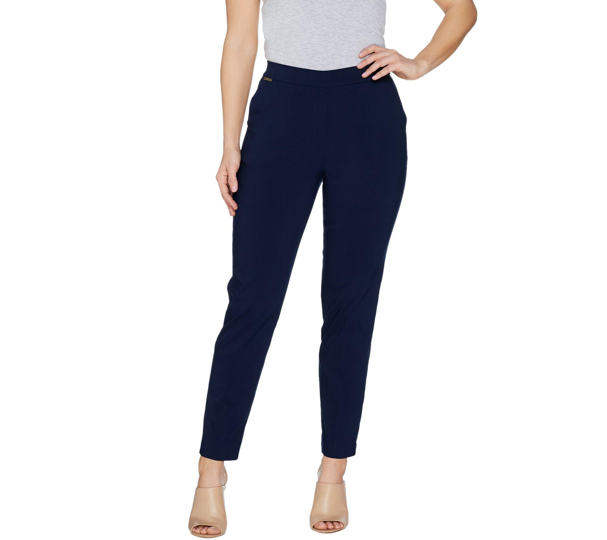 GRAVER Susan Graver Ultra Stretch Pull-On Slim Leg Ankle Pants - A301160.  Best Seller
