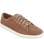 Vionic Water Resistant Suede Lace-up Sneakers - Brinley - A301860