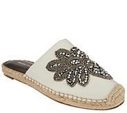 Marc Fisher Embellished Leather Espadrille Mules - Garden - A303060