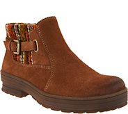 As Is Earth Origins Water Repellent Suede Ankle Boots- Tate - A308860