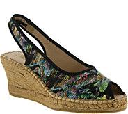 Azura by Spring Step Satin Peep-toe Wedge Sandals - Gweneth - A357160