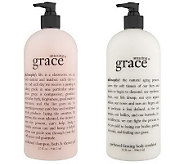 philosophy super-size fragrance shower gel & body lotion duo - A39060