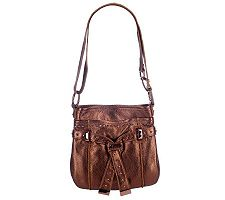 B.Makowsky Glove Leather Belted Crossbody with Stud Accents