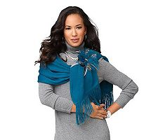 Layers by Lizden Luscious Scarf with Feather Pin