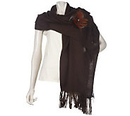 Layers by Lizden Luscious Scarf with Feather Pin - A216861