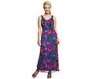 Isaac Mizrahi Live! Petite Floral Print Maxi Dress - A233461