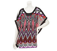 M by Marc Bouwer V-neck Printed Blouse with Tank - A233561