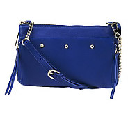 As Is Kelsi Dagger Ayden Pebble Leather Crossbody - A237961