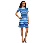 Liz Claiborne New York Short Sleeve Striped Knit Dress - A240861