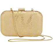 Isaac Mizrahi Live! Bridgehampton Leather Clutch - A252261