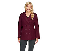 Linea by Louis DellOlio Double Breasted Peacoat - A259261