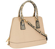 Marc Fisher Eleanor Leather Zip Top Dome Satchel - A264461