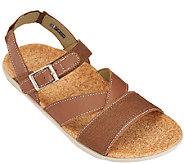 Spenco Leather Orthotic Quarter Strap Sandals -Ashley - A265061