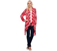 Attitudes by Renee Open Front Cascade Ombre Cardigan - A265361