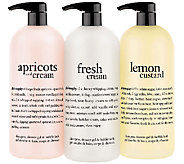 philosophy custard & cream super-size shower gel trio - A265561