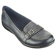 As Is Clarks Leather Loafers w/ Front Buckle Detail - A265761