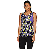 Denim & Co. Active Duo-Stretch Printed Tank Top - A266461