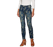 Women with Control My Wonder Denim Floral Jacquard Jeans - A266861