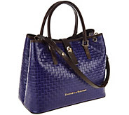 As Is Dooney & Bourke Claremont Leather Woven Perry Satchel - A268961