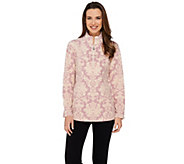 Susan Graver Weekend Printed Polar Fleece Long Sleeve Pullover - A272361