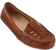 Vionic Orthotic Leather Woven Moccasins - Lively - A275061