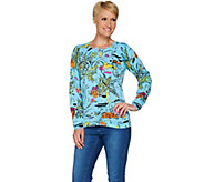 Quacker Factory Abstract Print Tropic Cardigan - A278361