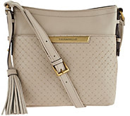 As Is Tignanello Pebble Leather Weave RFID Crossbody Bag - A280661