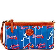 Dooney & Bourke MLB Nylon Braves Large Slim Wristlet - A281661