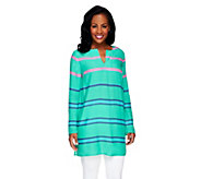 As Is Lisa Rinna Collection V-Neck Striped Tunic Top - A282961