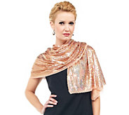 As Is Joan Rivers Shimmering Sequin Evening Scarf - A283261