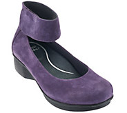 As Is Dansko Nubuck Stain Resistant Slip-on with Ankle Straps - A284061